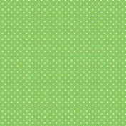 Spot by Makower UK - 5364 - White Spots on Apple Green - 830_G65 - Cotton Fabric